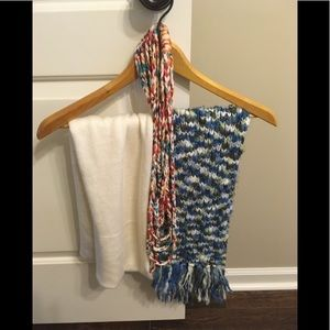 Set of three scarves: infinity, crochet, braided